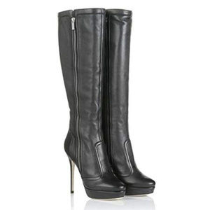 Jimmy Choo Athentic leather zipper boots
